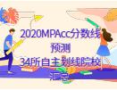 2020MPAcc分数线预测:34所自主划线院校汇总