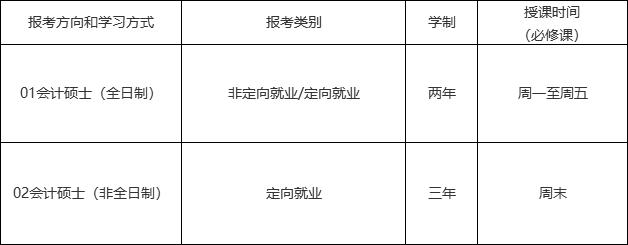 2021考研招生简章:中山大学管理学院2021年会计硕士(MPAcc)招生简章(暂定)